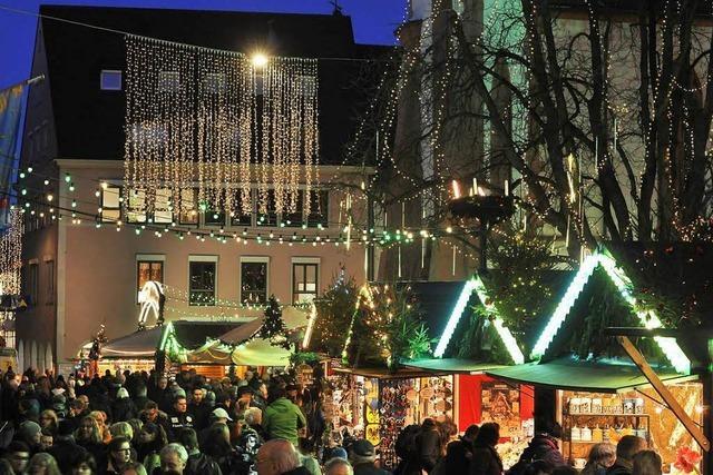 Am heutigen Montag startet der Freiburger Weihnachtsmarkt