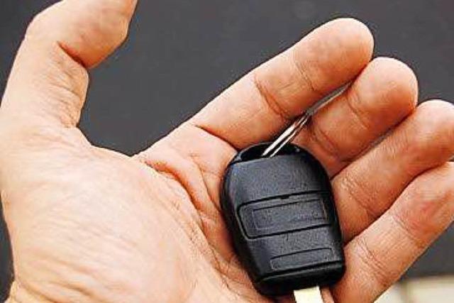 Auto in Lörrach gestohlen – der Schlüssel steckte