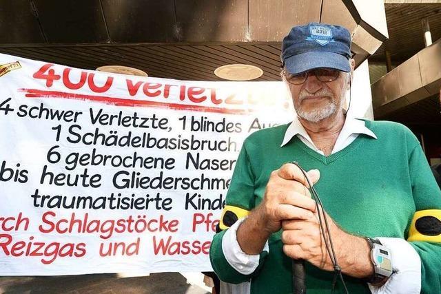 Wasserwerfer-Opfer soll 120.000 Euro Schmerzensgeld bekommen