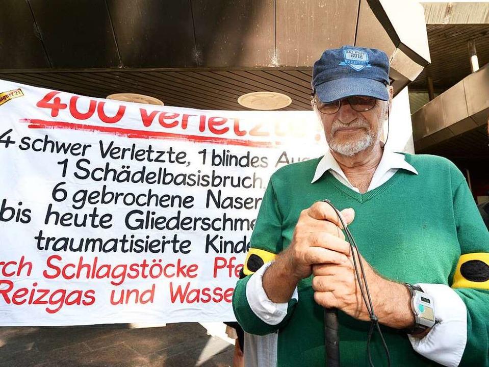 Dietrich Wagner beim Prozess vor dem L...in Stuttgart im Jahr 2014 (Archivbild)  | Foto: dpa