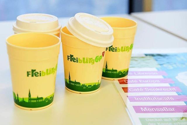 Freiburg startet Mehrwegsystem für Kaffeebecher