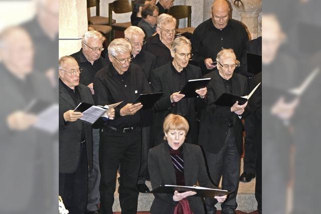 Zwei Männerchöre mit drei Konzerten in drei Kirchen