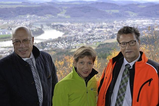 Minister Hauk auf dem Totenbühl
