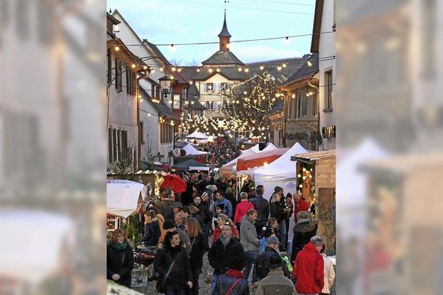 Vogtsburger Weihnachtsmarkt in Burkheim