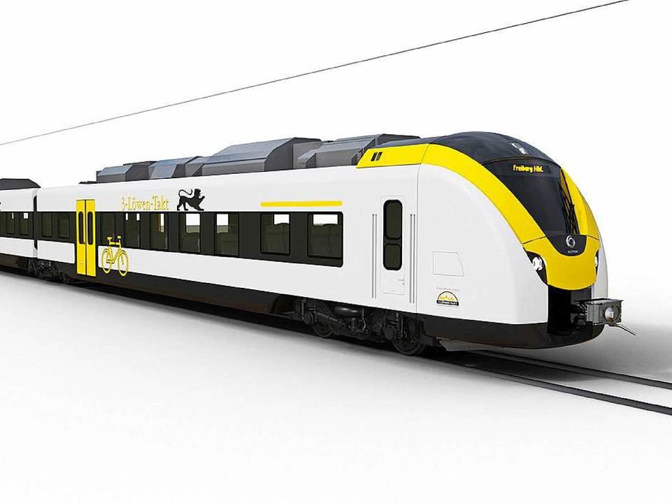 Bald sollen diese neuen Triebwagen auf der Strecke fahren.  | Foto: Alstom