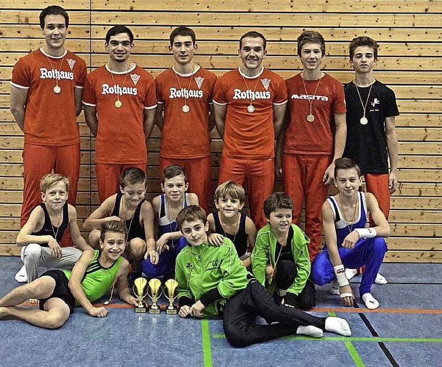 Talente zuhauf: Die WKG-Turner aus Röt...ale in Löffingen den Gesamtsieg.        | Foto: loos