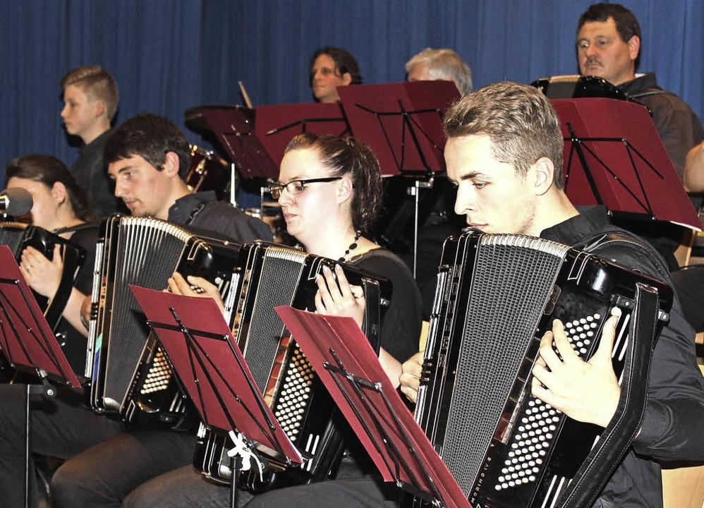 Volle Konzentration beim Konzert in Umkirch   | Foto: Schöneberg