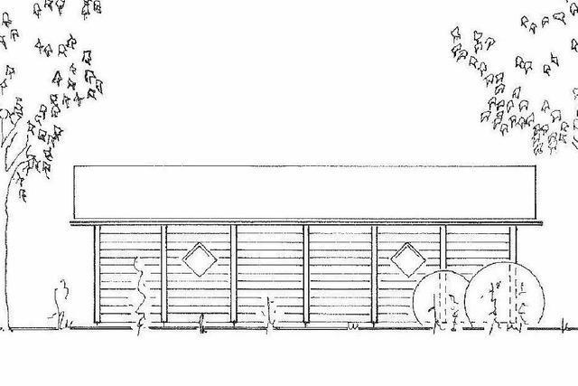 Neue Schutzhütte bei der Elzhalle