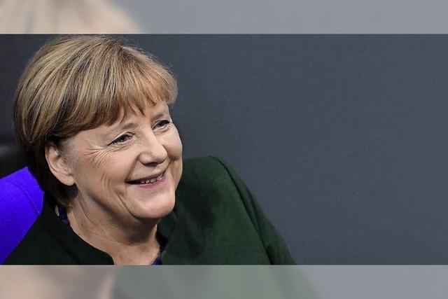 Angela Merkel, die Wahlkämpferin