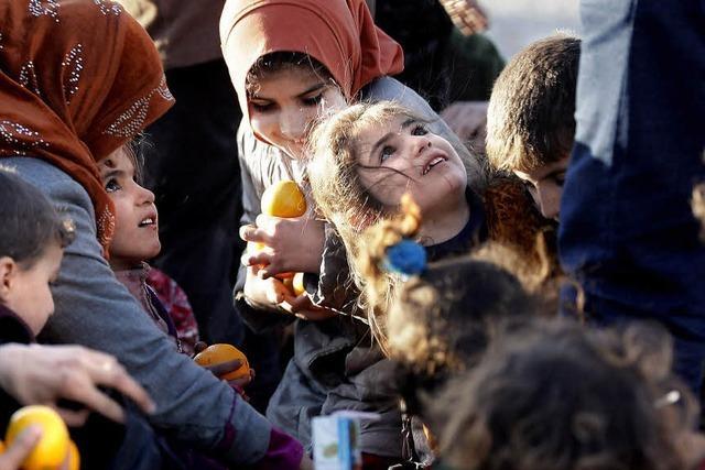 Orangen für Flüchtlinge