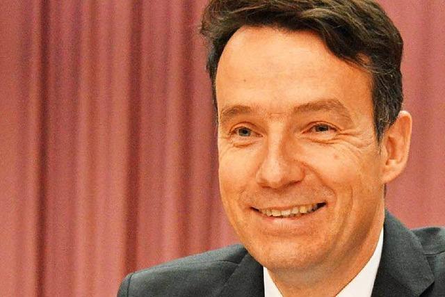 Bürgermeister in Kirchzarten wirbt für seine Wiederwahl