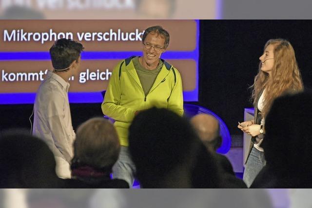 """Dieter Baumann zu Gast bei """"Nachgefragt"""" am Rotteck-Gymnasium"""