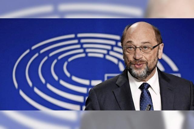 EU-Parlamentspräsident Martin Schulz geht in den Bundestag