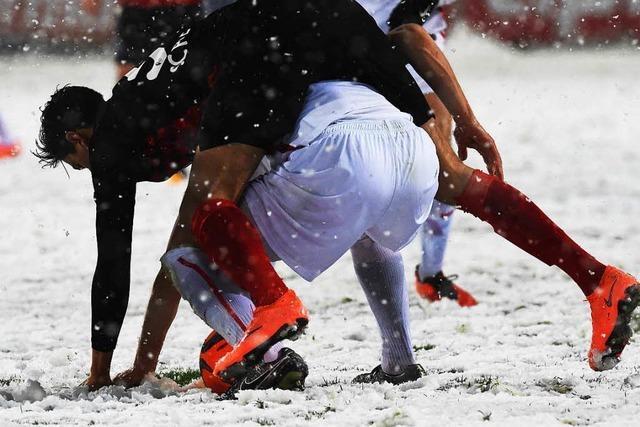 SC Freiburg gegen Leipzig: Wer erinnert sich an das Schnee-Spiel?