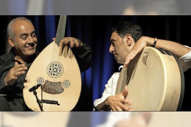 Rahmentrommeln des World-Percussionisten Murat Coskun im E-Werk