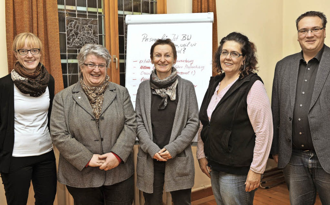 Sabine Haberland , Barbara Lattner und...spartnerin, Initiator war Mario Isele.  | Foto: Wolfgang Scheu