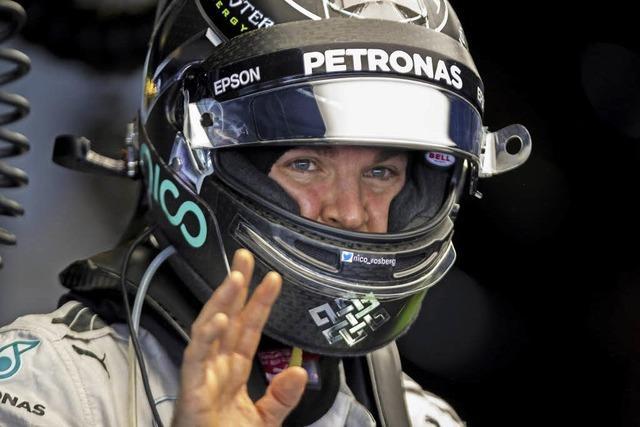 Im Training zum Formel-1-Finale fährt Nico Rosberg auf Rang zwei