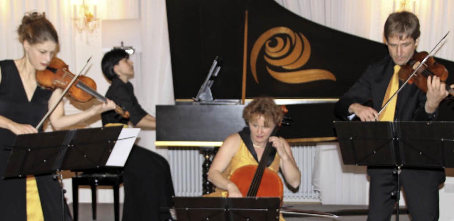 Das Quartett Neobarock gestaltete das ...6 im Festsaal des Kollegs St. Blasien.  | Foto: Margrit Matyscak