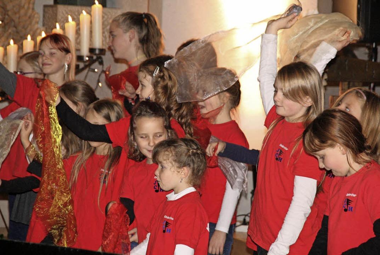 Die Jüngsten, die an der Nacht der Mus...chor Herrischried verbreitete Freude.   | Foto: Peter Schütz