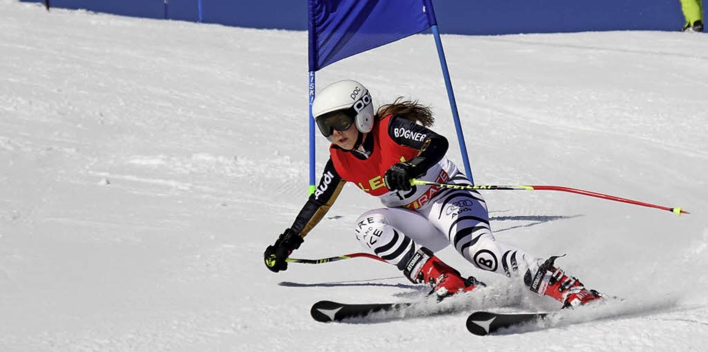Carolin Ruckes vom SC Neustadt startete rasant in die alpine Skisaison.   | Foto: siegmund