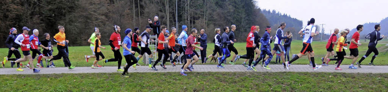 Lang zieht sich das Feld über 10 Kilometer beim Nikolauslauf.   | Foto:  Wolfgang Künstle