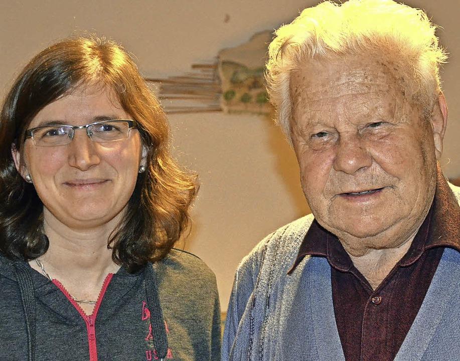 Sandra Saier wurde zur Kassiererin des...e für 75 Jahre Mitgliedschaft geehrt.   | Foto: Alexandra Wehrle