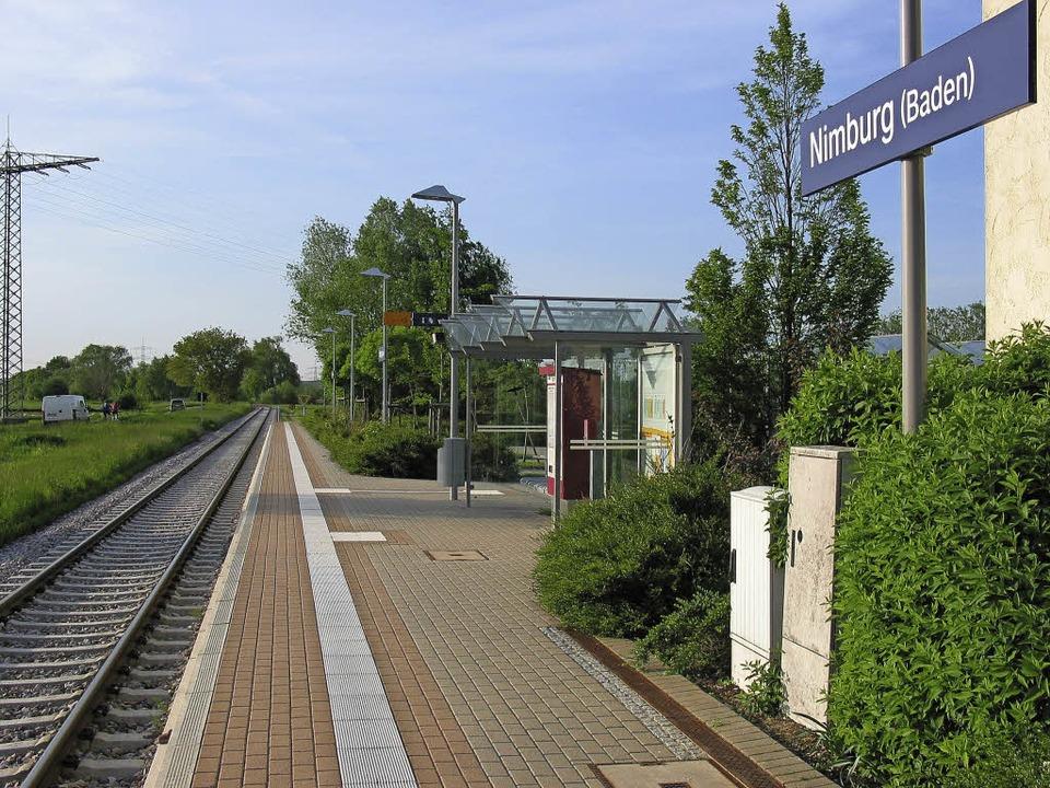 Der Bahnhof in Nimburg wird mit der El...uhlbahn zum Kreuzungsbahnhof umgebaut.  | Foto: SWEG