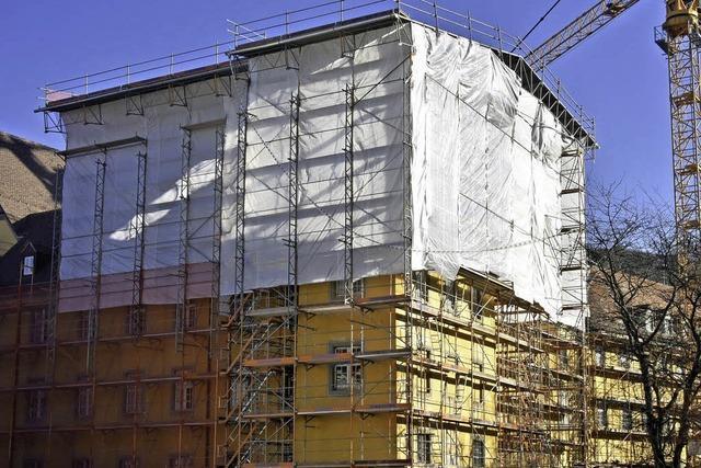 Sanierung Augustinermuseum - Dachbaustelle ist winterfest