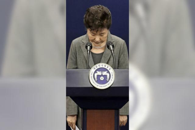 Präsidentin Park Geun-Hye zum Rücktritt bereit