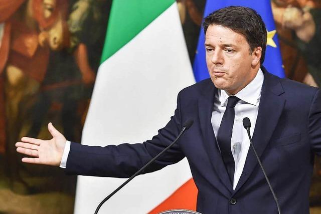 Vor dem Referendum in Italien am Sonntag