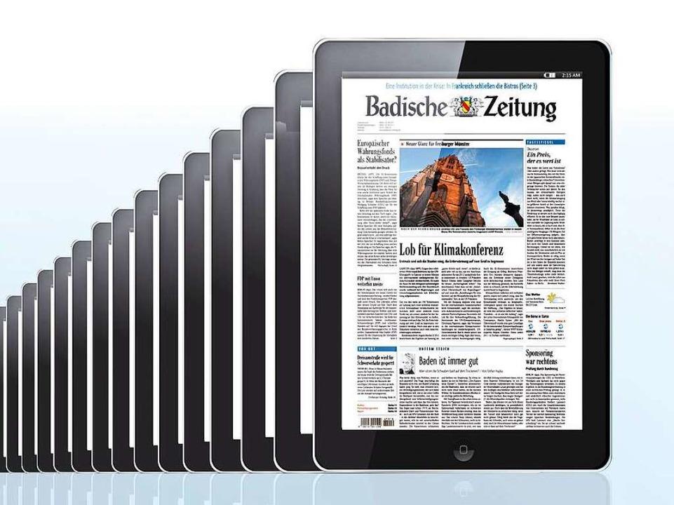 Das BZ-Digital-Abo beinhaltet auch die BZ-iPad-App.  | Foto: PR