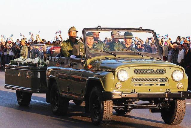Kuba nimmt Abschied von Fidel Castro in Havanna