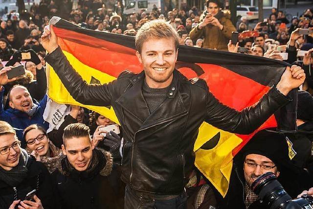 Formel-1-Weltmeister Nico Rosberg ist wieder daheim