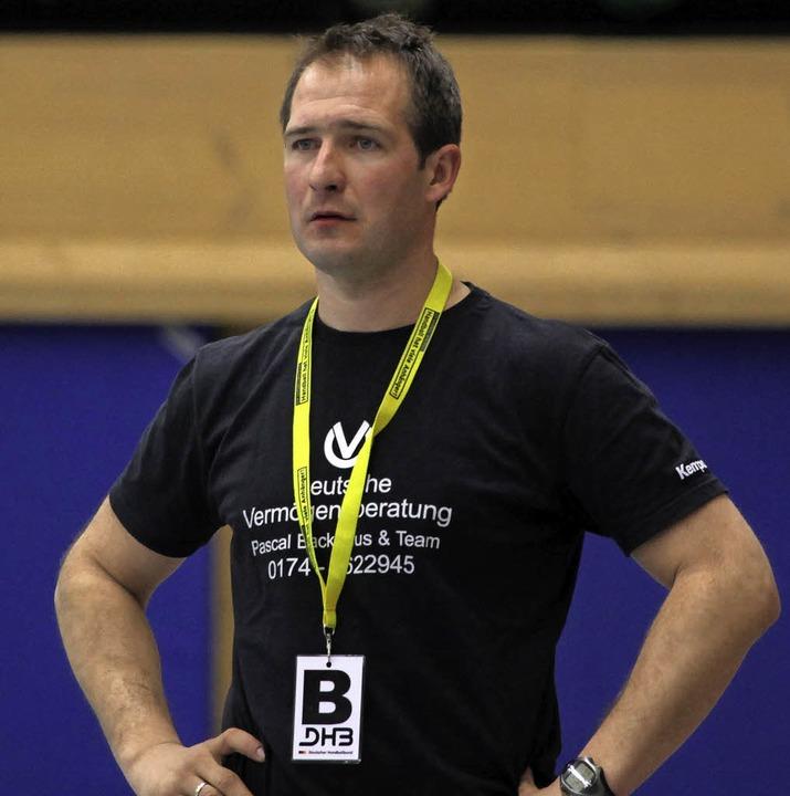 TVB-Trainer Igor Bojic zweifelt nicht am Willen seines Teams.  | Foto: Konzok