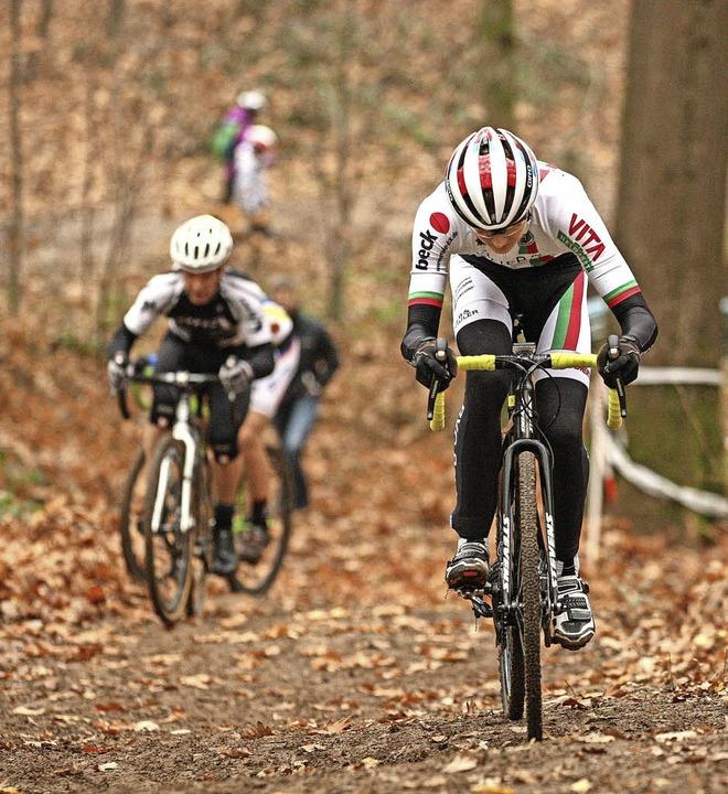 <BZ-FotoAnlauf>Radcross: </BZ-FotoAnla...meisterschaft im Rammersweierer Wald.     Foto:  Alexandra Buss