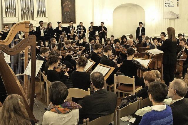 Musikensembles des Kollegs St. Blasien konzetieren in St. Blasien