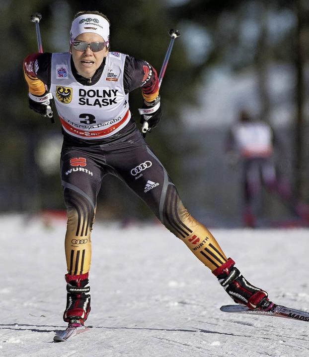 Sprint-Spezialistin: Sandra Ringwald   | Foto: dpa