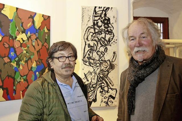 Künstlerisches Duett in der Turmkammer