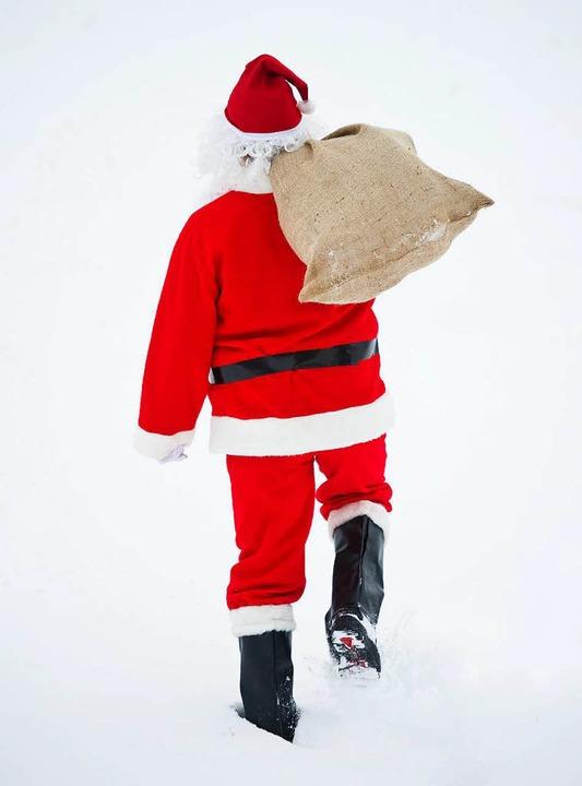 """Ein """"Nikolaus""""  hat eine T...llen und ist mit der Beute geflüchtet.    Foto: dpa"""