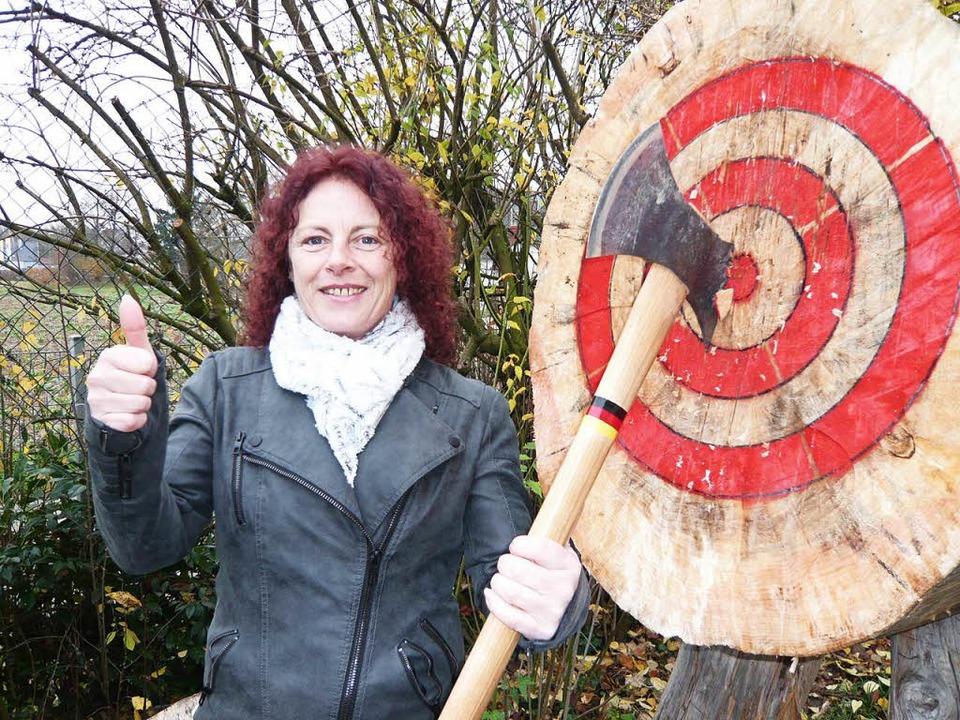 Patricia Keller ist Neueinsteigerin bei den Schiibespaltern.    Foto: Horst Rösch