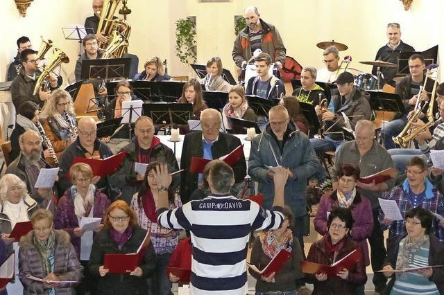 Proben für Kirchenkonzert