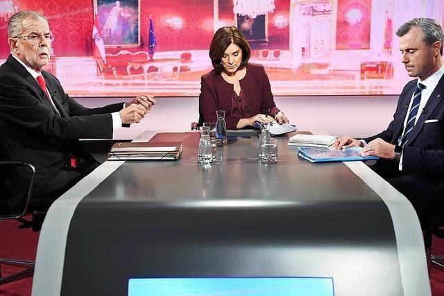 Bewerber liefern sich Schlagabtausch im TV-Duell