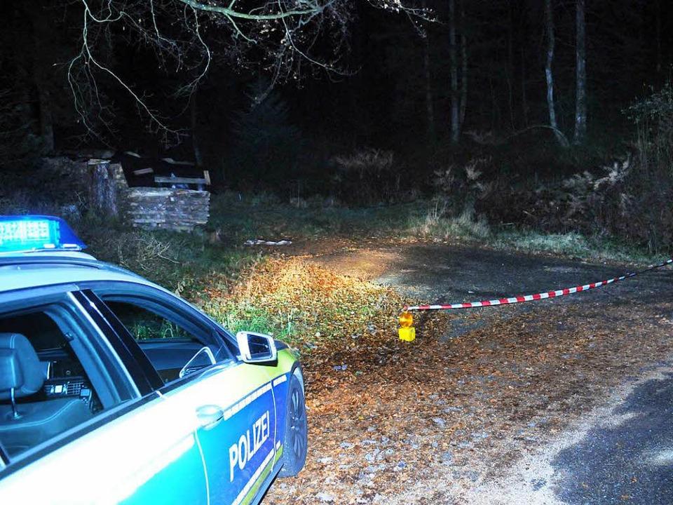 Der Tatort im Wald, nicht weit vom Nordracher Ortsteil Kolonie    Foto: WOLFGANG KUENSTLE