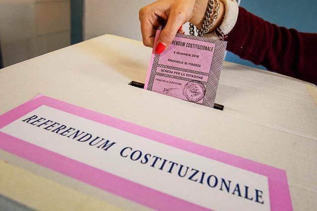 In Italien wird über eine Verfassungreform abgestimmt