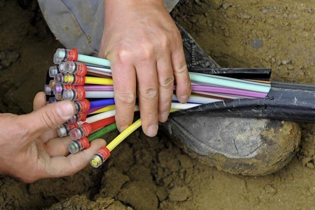 Breitbandverlegung ist im Gange