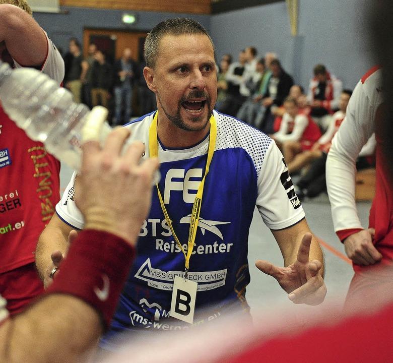 Meißenheims Trainer Frank Erhardt hatt...lärung für die Leistung seines Teams.     Foto: Pressebüro Schaller