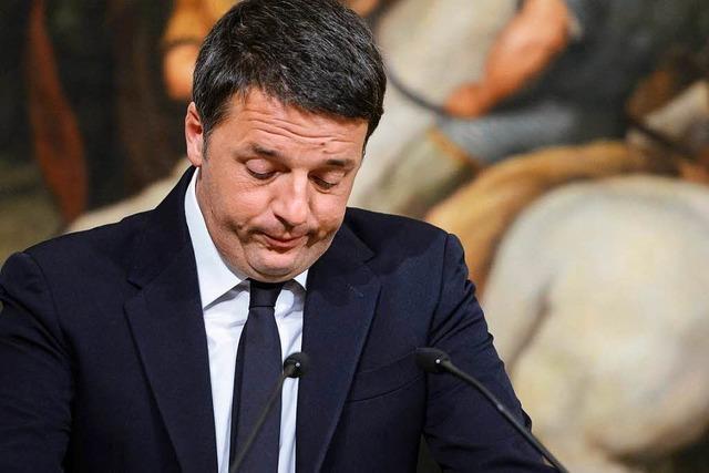 Niederlage bei Referendum: Renzi kündigt Rücktritt an