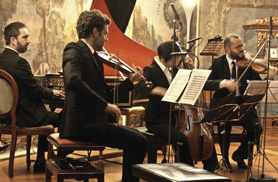 Das Ensemble Diderot präsentierte im j...hlosskonzert französische Barockmusik.  | Foto: Hans Jürgen Kugler