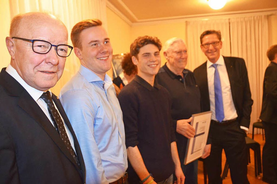 Norbert Dietrich (von links), Lukas Lo...Senger, Willi Kelz und Rainer Liebenow  | Foto: Peter Gerigk