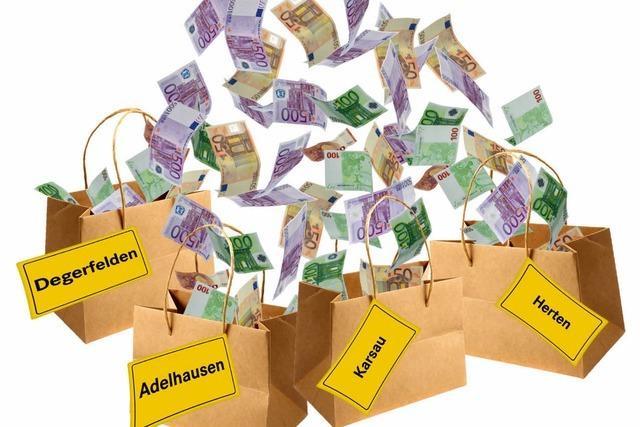 Geld flattert in die Stadtteile